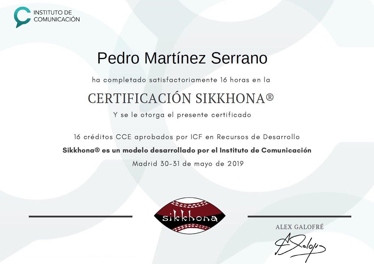 certificado sikkhona