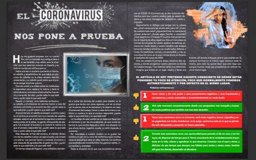 El coronavirus nos pone a prueba